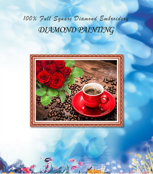 Diamond Painting Diamond Embroidery 5d Diy Full Square Coffee - Diamond Mosaic Buddha Pictures Of Rhinestones