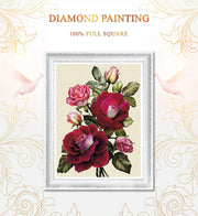 Diamond Painting Diamond Embroidery 5d Diy Full Square Flowers - Diamond Mosaic Drill Daimond Painting