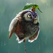 Diamond Painting Rain Owl Cross Stitch Full Round Drill 5D Diamond Mosaic Embroidery Canvas Home Decoration Painting Craft DK300