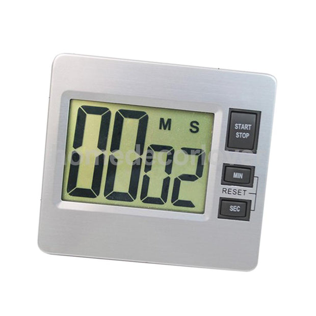 Digital LCD Bathroom Kitchen Wall Alarm Clock Countdown Up Set-up Timer Watch For Spa Sports Cooking Baking Racing Homework