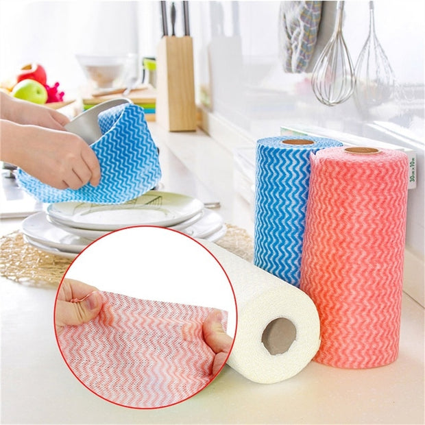 Dishcloth Rag Oil Wiping Kitchen Cleaning Cloth New Non-woven Disposable Towel