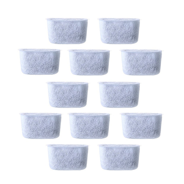 Disposable Replacement Non-Woven Activated Charcoal Water Filters For Coffee Machines, 12 Pcs, White(4.7 * 2.1 * 2.6cm,White)