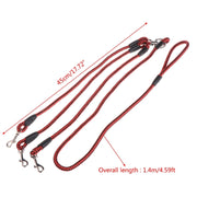 Dog Leash Splitter Collar Dogs Leash Coupler Lead With Nylon Soft Handle For Walking 3 Dogs Outside 3 In 1 Traction Rope