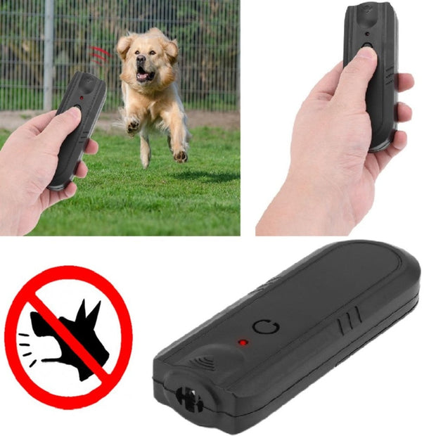 Dog Repellents Supplies Ultrasonic Anti Bark Stop Barking Dog Stopper Repeller Control Trainer Device Black