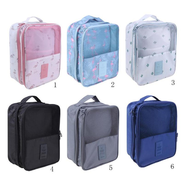 Double Layer Zipper Waterproof Makeup Bag Travel Clothes Shoes Pouch Storage Bags Multifunction Portable Handle Organizer Bag
