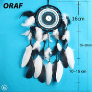 Dream Catcher Home Decor Natural White Feather Car Hanging Ornament Fashion