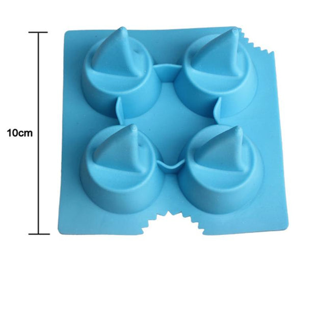 Drink Ice Tray Cool Shark Fin Shape Ice Cube Freeze Mold Ice Maker Mould