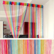 EMVANV Rainbow Window Curtain Room Door Divider String Line Panel Curtain Home Decor