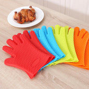ERMAKOVA Multiple Color Waterproof Silicone Insulated Grill Glove Heat Resistant BBQ Glove Oven Mitts Grilling