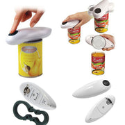 Electric Can Jar Tin Opener Cordless Hands Free Battery Powered Open Tool Automatic (White)