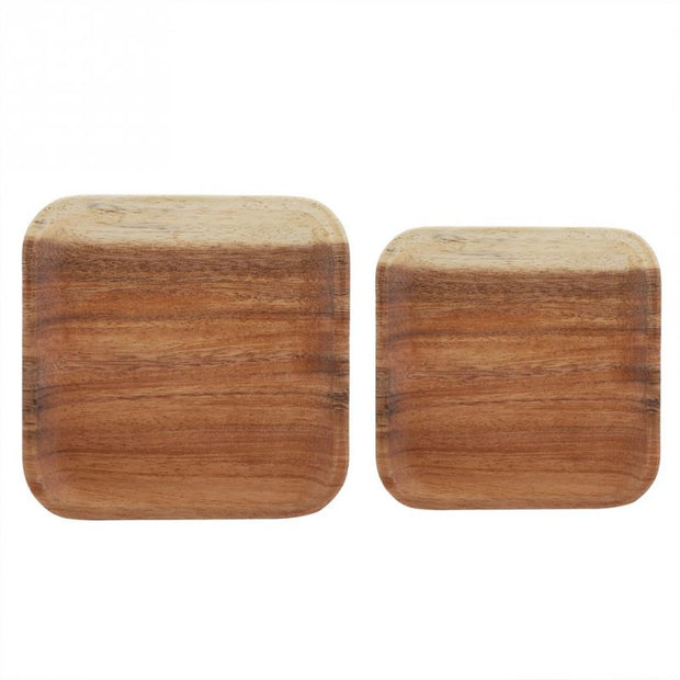 Elegant Square Food Tray Snacks Sushi Wooden Serving Dish For Home Wood Sushi Plate Dinnerware Tableware