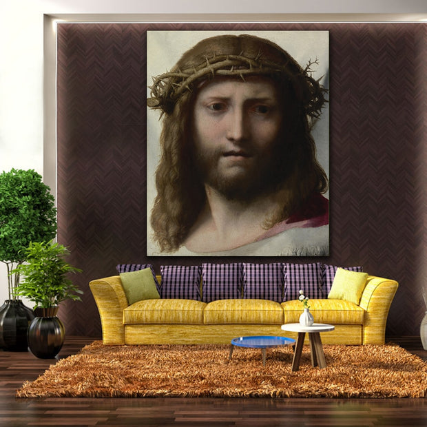 Embelish Hot Selling Head Of Chris Figure Wall Pictures For Living Room HD Spray Canvas Oil Painting Home Decor Framed Posters