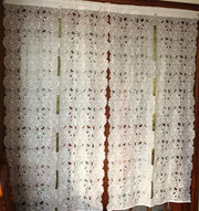 Embroidered Flower Pattern Curtains. Exquisite Roman Curtain. Soft Room Curtain.