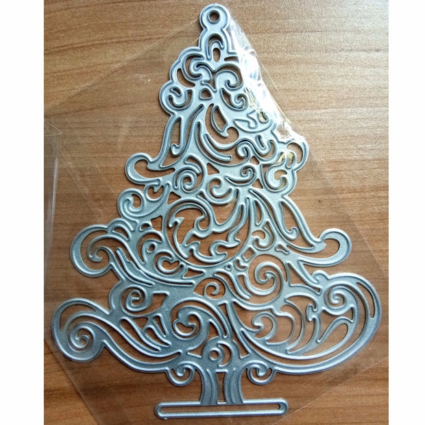 Eno Greeting Metal Santa's Christmas Tree Cutting Dies For Diy Greeting Card Making Papercraft Supplies