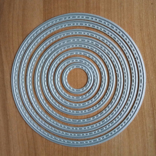 Eno Greeting Scrapbooking Dies Metal Round Circle Cutting Dies Craft Embossing Card Making Die Cut Shapes