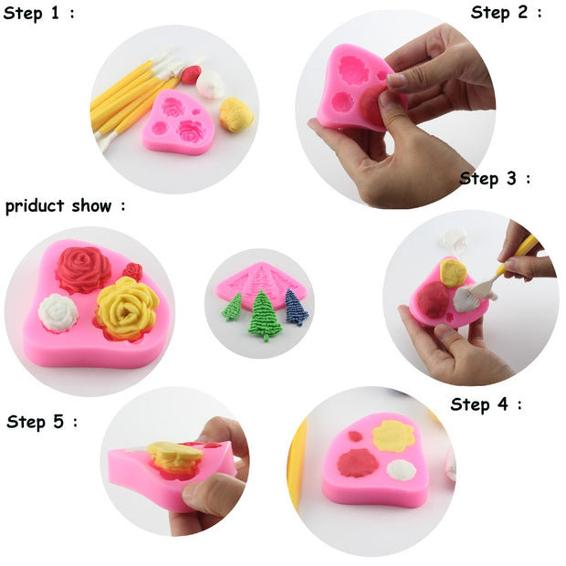 Fashion Ladies Silicone Mold Girl Fondant Mold Cake Decorating Tools Chocolate Mold Baking Tools For Cakes