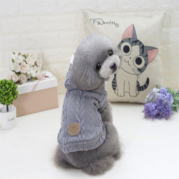Fashion Winter Warm Cotton Pet Clothes For Small Dog Soft Sweater Puppies Jacket Coat Dog Hoodie Pattern Pet Garment Articles