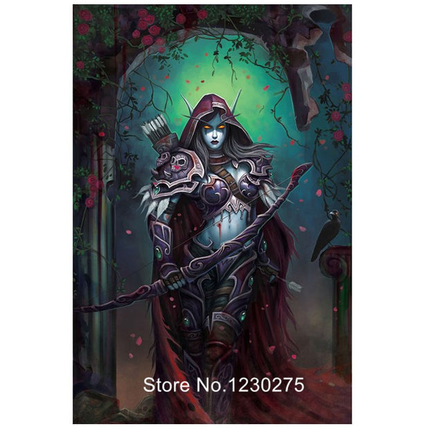 Female Archer Game Character Full Diamond Embroidery Kits Diamond Painting Cross Stitch Diy 5D Square Drill Mosaic Arts BG319