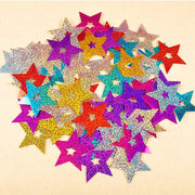 Five-pointed Star Rain Silk Sequin Party Room Wall Hangings Props Wedding Decoration Paper Banner Pendant C
