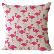 Flamingos Series Cushion Cover Cotton Decorative Flamingos Animal Pillowcase Linen Sofa Home Decorative Throw Pillow Cover