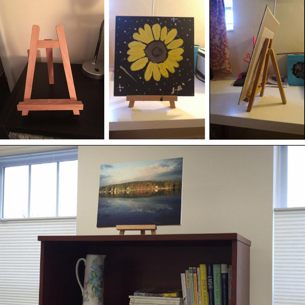 Floor Geometry Small Easel Wooden Mini Easel Pine Dispaly