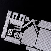 For Scrapbooking Paper Cards Crafts DIY 3 Styles House Border Metal Cutting Dies Stencils