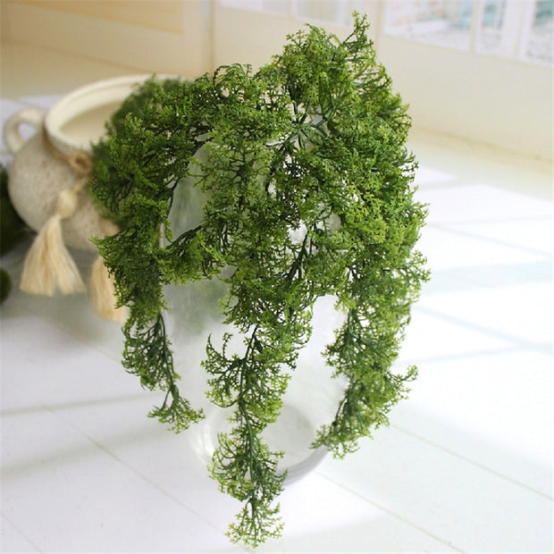 Forest Department Simulation Plastic Moss Fake Green Plant Wall Hanging Flower Home Living Room Window Sill Decorative Plant