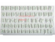 Free Shipping 1 Set 200G Alphabet Letter Upper Case Low Mould Cake Reusable Baking Fondant Cupcake
