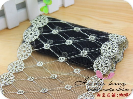 Free Shipping DIY Handmade Jewelry Accessories, Hair Material Bow Embroidered Lace Headband Accessories