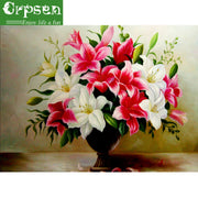 Full 5D DIY Embroidery Diamond Painting Square Drill The Flower Needlework Arts Crafts&Sewing Decoration Wall Painting,Crpsen