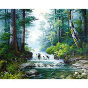 H370 Diamond Embroidery Landscape,full Square,diamond Painting Cross Stitch,5d,diamond Painting Waterfall Forest
