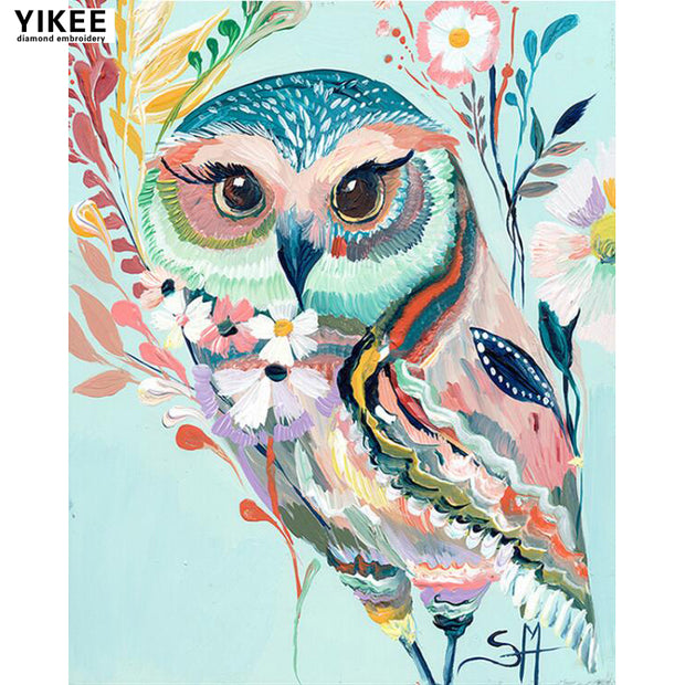 H373 5d Diamond Painting Owls, Diamond Embroidery For Children Animal
