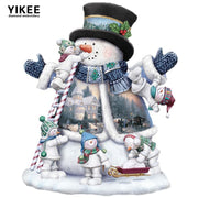 H377 Diamond Painting Full Drill Christmas,full Square Diamond Embroidery,diy Diamond Painting Snowman
