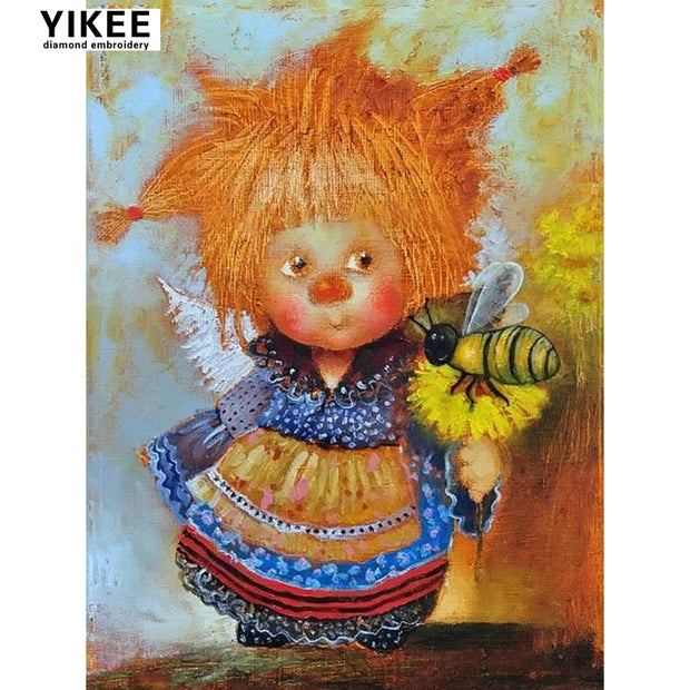 H389 Diamond Painting Doll Gift,full,diy,square,full Diamond Painting,mosaic Pictures,diamond Painting Angel