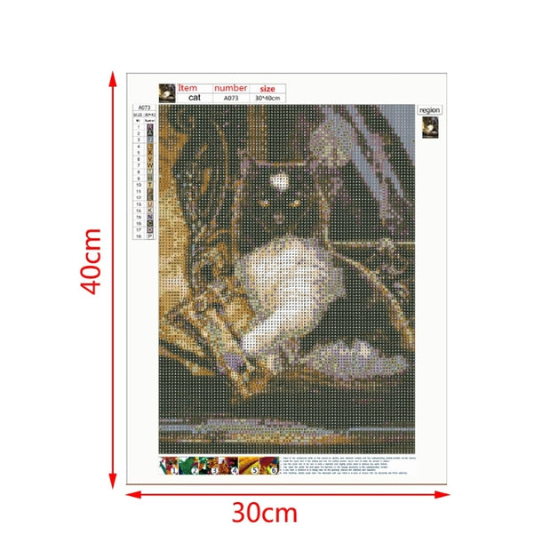 Halloween Cat 5D Diamond Painting DIY Embroidery Cross Stitch Home Decor Craft