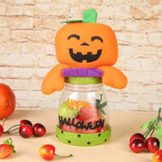 Halloween Cute Candy Box Non-Woven Plastic Jar Sugar Bottle Container Ornament Home Festival Decorations Children Gift Decor Box