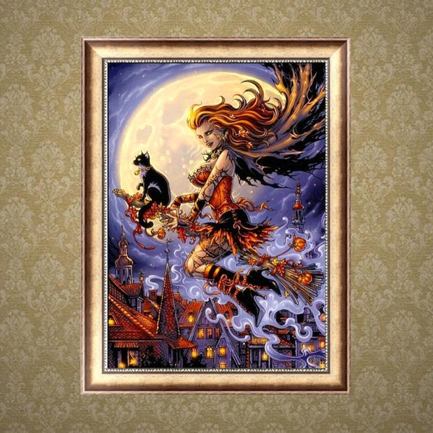 Halloween DIY 5D Diamond Embroidery Painting Cross Stitch Craft Home Decorations