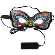 Halloween EL Luminous Eye Mask Party Mask Upper Half Face Mask Holiday Party Halloween Mask