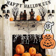 Halloween Hanging Garland Decorative Party Decoration Non-woven Horror Ghost Pumpkin Kids Trick Door Pendant Props