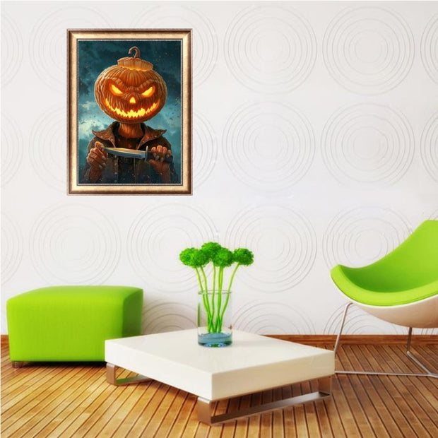 Halloween Pumpkin DIY 5D Diamond Embroidery Painting Cross Stitch Home Decor Art