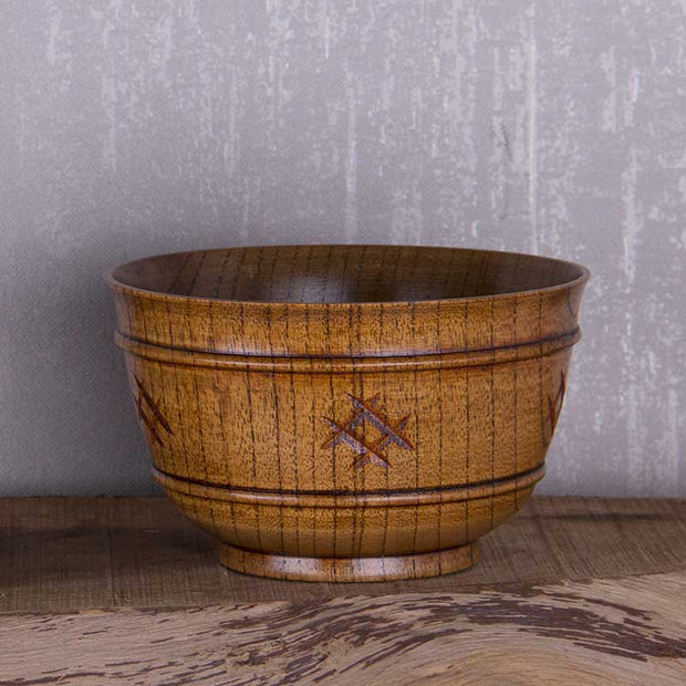 Handmade Chinese Jujube Wooden Bowl Soup Salad Rice Wooden Bowl Wooden Kitchen Utensils Tableware
