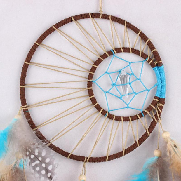 Handmade Dream Catcher Feathers Hanging Decoration Gift E5M1