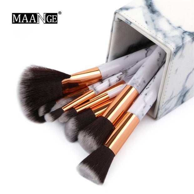 High Class Marble Pattern Makeup Brushes Portable Size Pen Storage Holder Organizer Cosmetic Brush Container Case