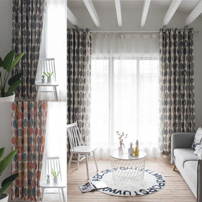 High Shading Round Circle Window Curtain Valance Drape Home Bedroom Decor Curtains