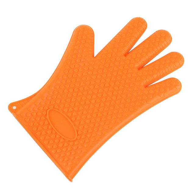 High Temperature Heat Resistant Home Kitchen Barbecue Oven Gloves Silicone