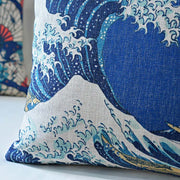 Hokusai Vintage Folk Pillowcase Japanese Ukiyo Style Printed Square Cushion Decorative Pillow Cushions Home Decor Throw Pillow