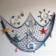Home The Mediterranean Sea Style Wall Stickers Big Fishing Net Decoration Home Decoration Wall Hangings 1075