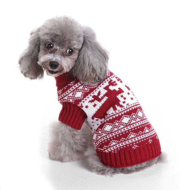 Hoomall 1PC Christams Dog Clothes Winter Warm Dog Clothes Puppy Clothing Soft Shirts Pet Dog Puppy Sweater For Chihuahua Yorkie