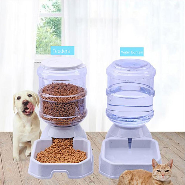 Hot 1Pc 3.8L Automatic Pet Feeder Dog Cat Drinking Bowl Large Capacity Water Food Holder Pet Supply