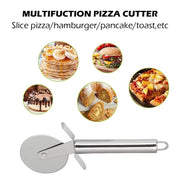 Hot New 1 Pcs Round Wheels Pizza Cutter Cake Bread Pies Waffles Dough Cookies Knife Stainless Steel Cooking Kitchen Tools
